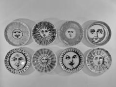 Piero Fornasetti Complete Set of Eight Soli e Lune Drinks Coasters by Fornasetti Italy - 1401489