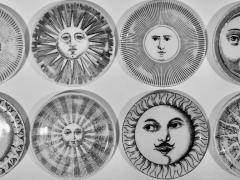 Piero Fornasetti Complete Set of Eight Soli e Lune Drinks Coasters by Fornasetti Italy - 1401490