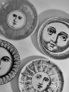 Piero Fornasetti Complete Set of Eight Soli e Lune Drinks Coasters by Fornasetti Italy - 1401494