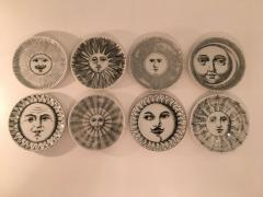 Piero Fornasetti Complete Set of Eight Soli e Lune Drinks Coasters by Fornasetti Italy - 1401500