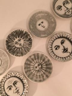 Piero Fornasetti Complete Set of Eight Soli e Lune Drinks Coasters by Fornasetti Italy - 1401508