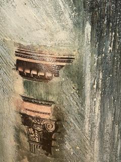 Piero Fornasetti FORNASETTI STYLE MIXED MEDIA COLUMN WALL ART - 1208916