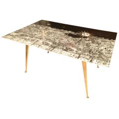 Piero Fornasetti Fornasetti Glass and Brass Coffee Table - 282206
