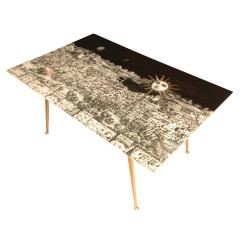 Piero Fornasetti Fornasetti Glass and Brass Coffee Table - 282208