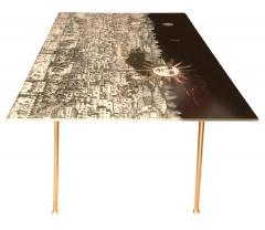 Piero Fornasetti Fornasetti Glass and Brass Coffee Table - 282209