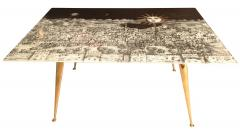 Piero Fornasetti Fornasetti Glass and Brass Coffee Table - 282210