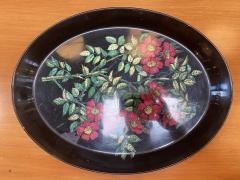 Piero Fornasetti Italian Vintage Oval Tray FIORI by Piero Fornasetti Italy 1950s - 1553592