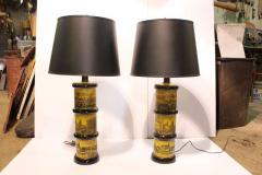 Piero Fornasetti Pair of Fornasetti Style Table Lamps - 688539