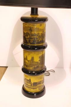 Piero Fornasetti Pair of Fornasetti Style Table Lamps - 688540