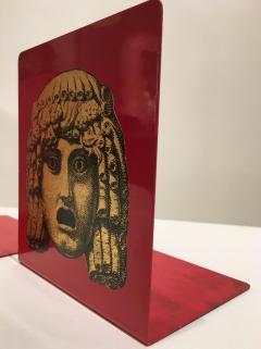 Piero Fornasetti Pair of Maschere Masks Bookends by Piero Fornasetti Italy circa 1950 - 1401429