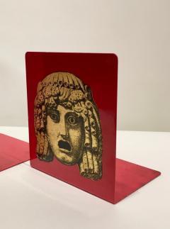 Piero Fornasetti Pair of Maschere Masks Bookends by Piero Fornasetti Italy circa 1950 - 1401430