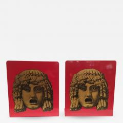 Piero Fornasetti Pair of Maschere Masks Bookends by Piero Fornasetti Italy circa 1950 - 1402138