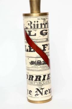 Piero Fornasetti Pair of News Paper lamps by Piero fornasetti - 853235