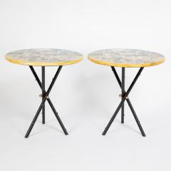 Piero Fornasetti Pair of rare Piero Fornasetti Citt di Carte side tables circa 1950s - 1136069