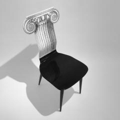 Piero Fornasetti Piero Fornasetti Capitello Ionico Chair in Black and White Italy circa 2006 - 1401431