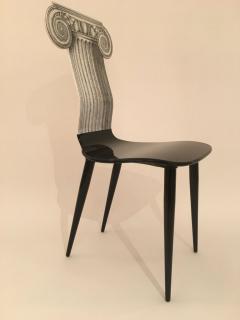 Piero Fornasetti Piero Fornasetti Capitello Ionico Chair in Black and White Italy circa 2006 - 1401435