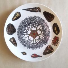 Piero Fornasetti Piero Fornasetti Dishes Decorated With Sea Anemones Urchins Shells - 1619199