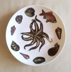 Piero Fornasetti Piero Fornasetti Dishes Decorated With Sea Anemones Urchins Shells - 1619204