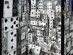 Piero Fornasetti Piero Fornasetti Folding Screen Citta di Carte City of Cards No 3 99 - 1072353