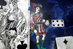 Piero Fornasetti Piero Fornasetti Folding Screen Citta di Carte City of Cards No 3 99 - 1072354