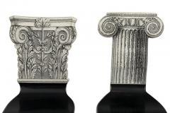 Piero Fornasetti Piero Fornasetti Miniature Capitello Ionico Corinzio Chairs - 1945522