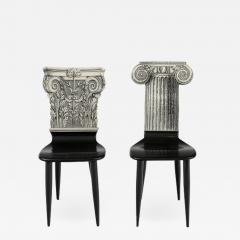 Piero Fornasetti Piero Fornasetti Miniature Capitello Ionico Corinzio Chairs - 1947289