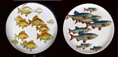 Piero Fornasetti Piero Fornasetti Pair of Plates with Fish Decoration Pesci pattern - 1619158