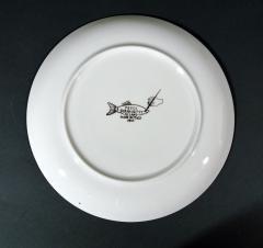 Piero Fornasetti Piero Fornasetti Pair of Plates with Fish Decoration Pesci pattern - 1619160