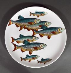 Piero Fornasetti Piero Fornasetti Pair of Plates with Fish Decoration Pesci pattern - 1619161