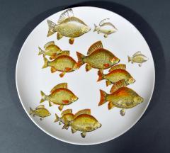 Piero Fornasetti Piero Fornasetti Pair of Plates with Fish Decoration Pesci pattern - 1619162