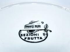 Piero Fornasetti Piero Fornasetti Pair of Sezioni Di Frutta Eggplant Apple Plates Nos 6 7  - 1614327