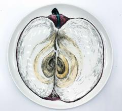 Piero Fornasetti Piero Fornasetti Pair of Sezioni Di Frutta Eggplant Apple Plates Nos 6 7  - 1614328