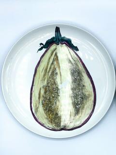 Piero Fornasetti Piero Fornasetti Pair of Sezioni Di Frutta Eggplant Apple Plates Nos 6 7  - 1614329