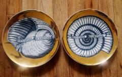 Piero Fornasetti Piero Fornasetti Porcelain Seashell Porcelain Plates - 1619187