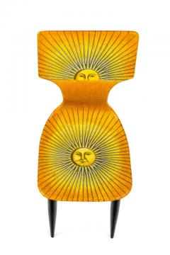 Piero Fornasetti Piero Fornasetti Prototype Miniature Sole Chair Table - 1945475