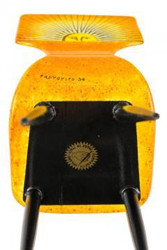 Piero Fornasetti Piero Fornasetti Prototype Miniature Sole Chair Table - 1945478