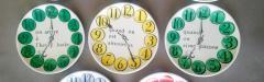 Piero Fornasetti Piero Fornasetti Quand on Arrive Clock Coasters When One Arrives  - 1618198