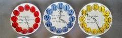 Piero Fornasetti Piero Fornasetti Quand on Arrive Clock Coasters When One Arrives  - 1618199