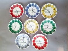Piero Fornasetti Piero Fornasetti Quand on Arrive Clock Coasters When One Arrives  - 1618202