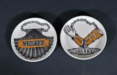 Piero Fornasetti Piero Fornasetti Set of Eight Vini E Liquori Barware Coasters with Original Box - 1614243