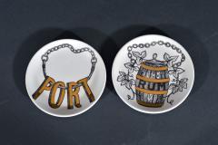 Piero Fornasetti Piero Fornasetti Set of Eight Vini E Liquori Barware Coasters with Original Box - 1614245