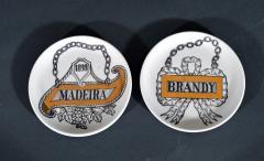 Piero Fornasetti Piero Fornasetti Set of Eight Vini E Liquori Barware Coasters with Original Box - 1614247