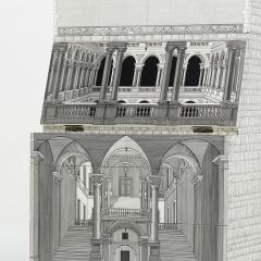 Piero Fornasetti RARE BLACK AND WHITE ARCHITETTURA TRUMEAU CABINET BY PIERO FORNASETTI - 1907335