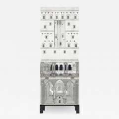 Piero Fornasetti RARE BLACK AND WHITE ARCHITETTURA TRUMEAU CABINET BY PIERO FORNASETTI - 1907967