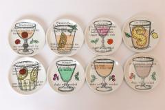 Piero Fornasetti Set of 8 Cocktail Coasters by Piero Fornasetti c 1970 - 1182853