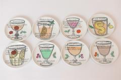 Piero Fornasetti Set of 8 Cocktail Coasters by Piero Fornasetti c 1970 - 1182863