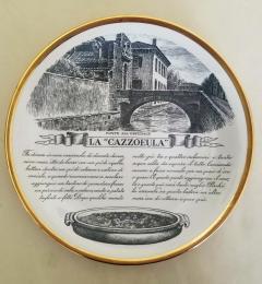 Piero Fornasetti Set of Twelve Recipe Plates Specialit Milanese Pattern - 1618098