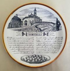 Piero Fornasetti Set of Twelve Recipe Plates Specialit Milanese Pattern - 1618099