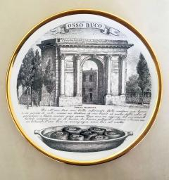 Piero Fornasetti Set of Twelve Recipe Plates Specialit Milanese Pattern - 1618100