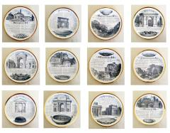 Piero Fornasetti Set of Twelve Recipe Plates Specialit Milanese Pattern - 1618101